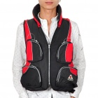 Swimming Aid Inflatable Vest Life Jacket with Inflator (Size XXL/Red + Black)