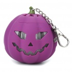 USB Rechargeable Cute Pumpkin Portable Music Speaker Keychain with TF Slot - Purple