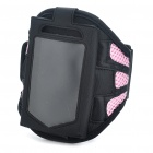 Sporty Armband for Iphone 3g/4 - Black + Pink