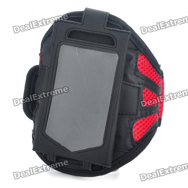 Sporty Armband for iPhone 3G/4 - Black + Red