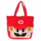 Cute Super Mario Style Carrying Bag Handbag - Red