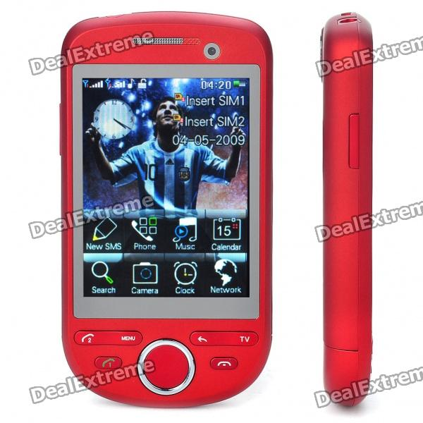 """H808 3.0"""" Touch Screen Dual SIM Dual Network Standby Quadband GSM TV Cell Phone w/ Wi-Fi/JAVA"""