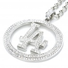 Men's HipHop LA Pattern Bling Pendant Chain Necklace