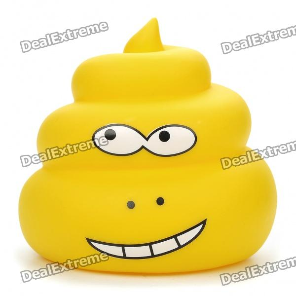 Funny Poo-Poo Style Glow-in-the-Dark Coin Bank - Color Assorted