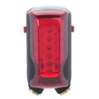 Rechargeable 7-Mode Red 5-LED Safety Bike Tail Light with 7-Mode 2-Red Laser Beam (35mW)