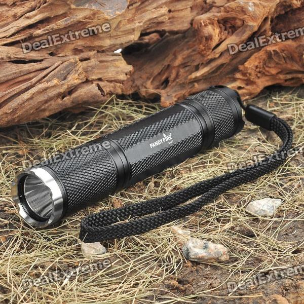FandyFire 2100 CREE XP-GR5 5-Mode 350-Lumen White LED Flashlight with Strap (1 x 18650)