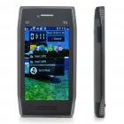 "X7 3.8"" Touch Screen Dual SIM Dual Network Standby Quadband GSM TV Cell Phone w/ WiFi+Java - Black"