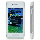 "X7 3.8"" Touch Screen Dual SIM Dual Network Standby Quadband GSM TV Cell Phone w/ WiFi+Java - White"