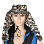 Dual Use Cotton Hat with Detachable Shawl - Desert Camouflage