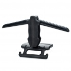 Foldable Multifunction Car Coat Hanger + Safety Handle - Black