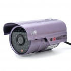 1/3 SONY CCD Waterproof Surveillance Security Camera with 36-LED Night Vision - Purple (DC 12V)
