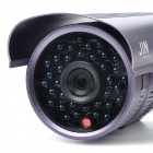 1/3 CCD Waterproof Surveillance Security Camera with 36-LED Night Vision - Purple (DC 12V)