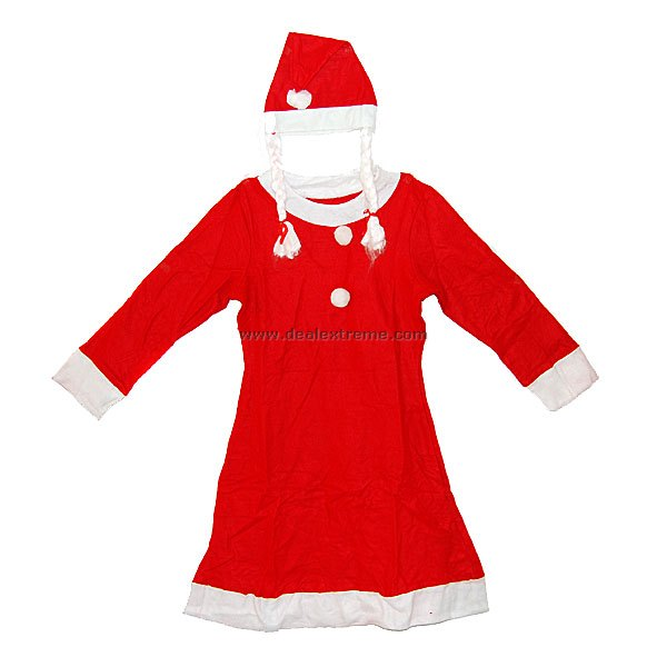 Christmas Santa Claus Suit for Girls (Age 10~13)