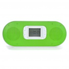 "1.5"" LCD USB Rechargeable Portable MP3 Music Stereo Speaker with FM/SD/USB (Green)"