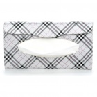Elegant PU Leather Car Sun Visor Tissue Paper Holder Dispenser Box - Silver + Black