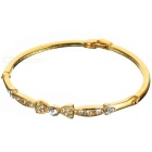 Glamorous Designer Crystal Alloy Gold Plated Bracelet