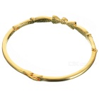 Glamorous Crystal Alloy Gold Plated Bracelet