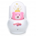 Little Bear Toilet Bowl Style Money Coin Bank (2 x AAA/Color Assorted)