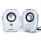 USB Powered Portable Stereo Speakers with Colorful Lights (USB/3.5mm Jack)