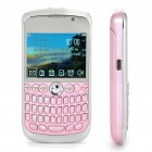 "K9800 2.3"" LCD Quad SIM Quad Network Standby Quadband GSM TV Cell Phone w/ WIFI+JAVA - Pink"