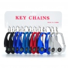 Compact Aluminum Alloy Bottle Opener Carabiner Keychain with Compass (12-Piece/Color Assorted)