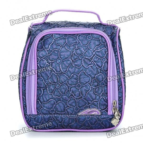 Stylish PU Leather Make-up/Cosmetic Handbag - Purple (23 x 20 CM)