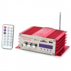 180W Hi-Fi Stereo Amplifier MP3 Player with FM Radio for Car/Motorcycle - Red + Silver (SD/USB)