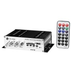 100W Hi-Fi Stereo Amplifier MP3 Player for Car/Motorcycle - Black + Silver (SD/USB)