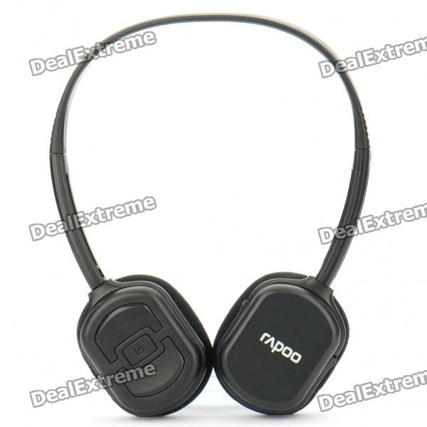 Rapoo H1000 2.4G Wireless Headset with Microphone/Volume Control - Black (2 x AAA)