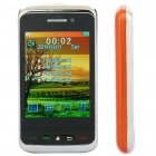 "F912 2,8 ""Touchscreen-Quad-SIM Quad-Netzwerk-Standby Quadband GSM Dual-TV-Handy w / FM - Orange"