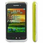 "F912 2.8"" Touch Screen Quad SIM Quad Network Standby Quadband GSM Dual TV Cell Phone w/ FM - Green"