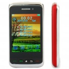 "F912 2.8"" Touch Screen Quad SIM Quad Network Standby Quadband GSM Dual TV Cell Phone w/ FM - Red"