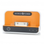 Cradle Style 1100mAh Rechargeable Emergency Power Supply for iPhone 3GS/4 - Orange