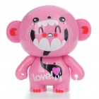 Cute Dolaso Mini USB Rechargeable Stereo Speaker for MP3/MP4/PC/Cell Phone - Pinky