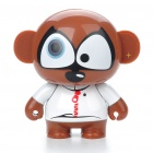 Cute Dolaso Mini USB Rechargeable Stereo Speaker for MP3/MP4/PC/Cell Phone - Brown Sugar