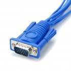 VGA 15Pin Male to 8 BNC Female Connectors Cable for CCTV - Blue (25CM-Cable)