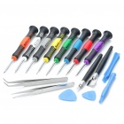 16-in-1 Steel Precision Screwdriver Set - Black + Multi-color