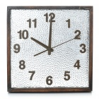 "Retro Style 11"" Wooden Square Wall Clock (1 x AA)"