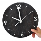 "Retro Style 11"" Wooden Round Wall Clock (1 x AA)"