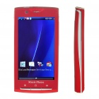 """X10i 3.8"""" Touch Screen Dual SIM Dual Network Standby Quadband GSM TV Cell Phone w/ Wifi/Java - Red"""