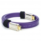Designer's Gold Plated 1080P HDMI V1.4 M-M Flat Connection Cable - Purple (1M-Length)