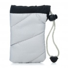 Digital Camera Bag with Strap & Carabiner Clip - Grey
