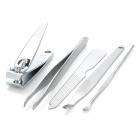 5-in-1 Stainless Steel Nail Clippers Scissors File Manicure Tools (Random Colors)