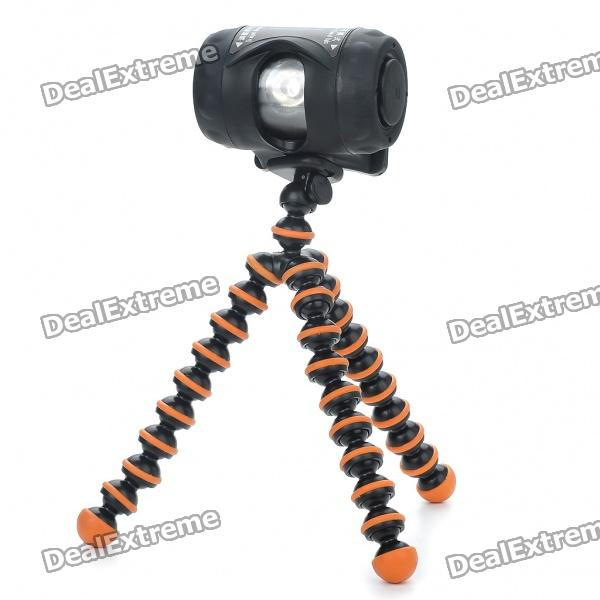 Waterproof CREE Q3 3-Mode LED Light with Tripod & Headlamp Strap (3 x AAA)