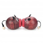 Wooden Kissing Pigs Toy