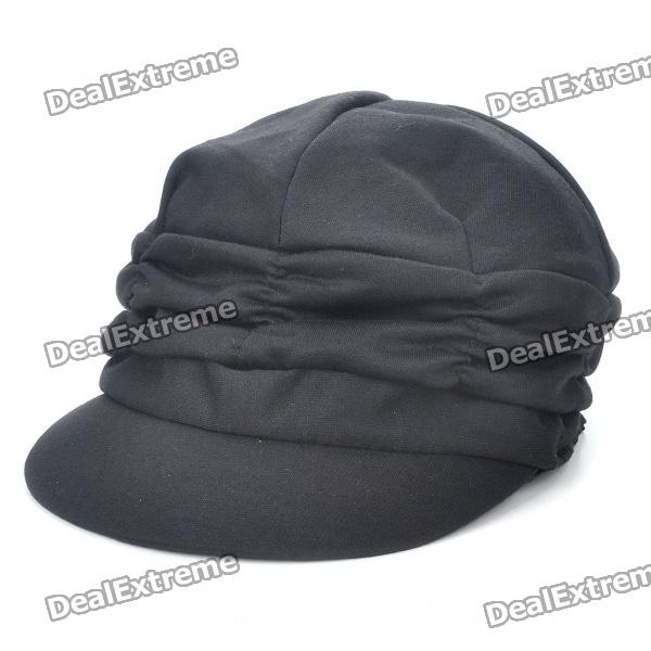 Stylish Casual Cap/Hat - Black trendy cotton fedora hat cap black