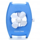 Cute Wrist Watch Style USB/3 x AAA Powered 4 Blade Cooling Fan - Color Assorted