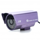 1/3 CCD Waterproof Surveillance Security Camera w/ 36-IR LED Night Vision - Purple