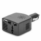 Carro 12V 100W para 220V Power Inverter w / porta USB Power - Preto