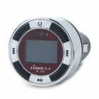 "0.7"" OLED Car MP3 Player FM Transmitter with Remote Controller - Black + Silver + White (2GB)"